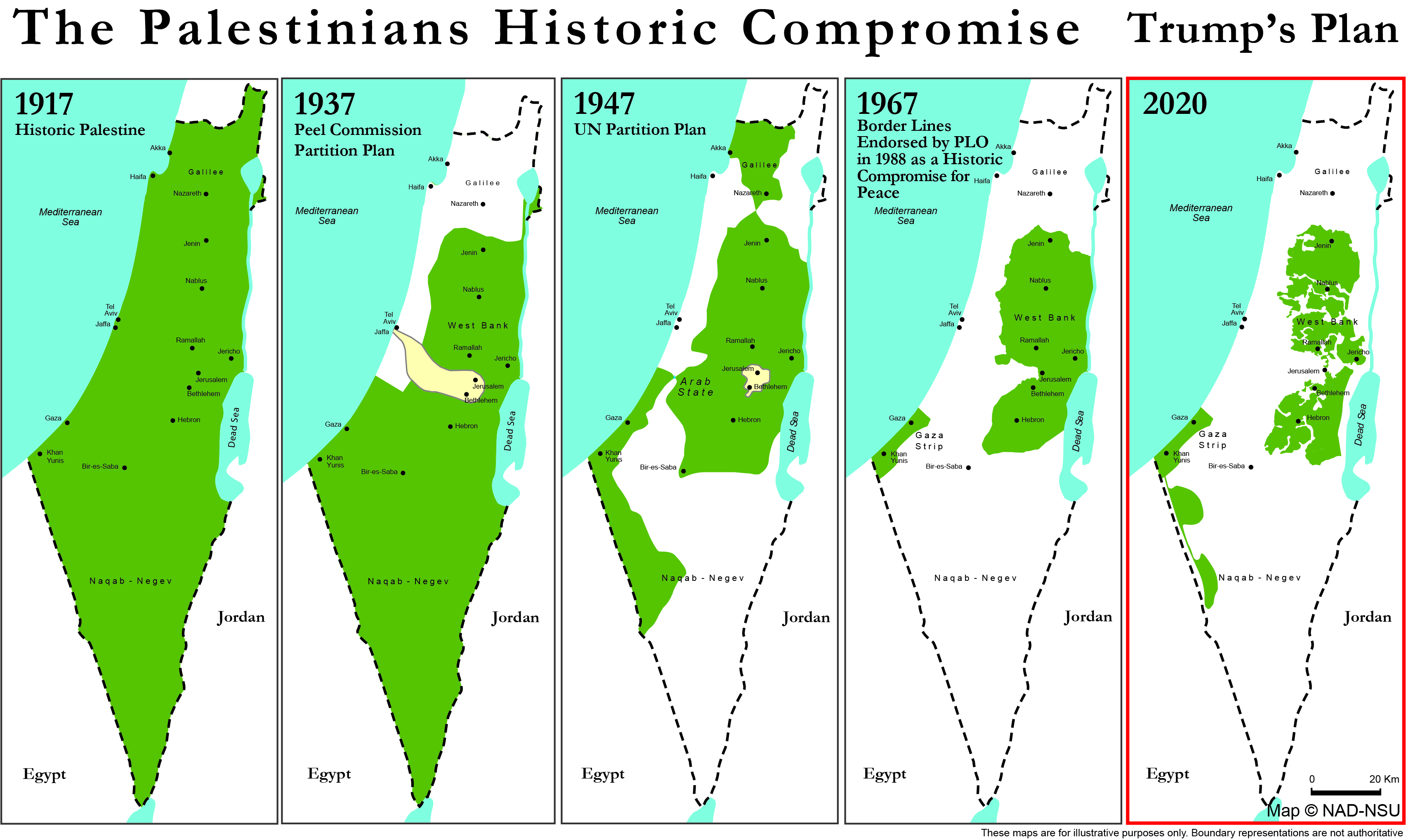 The Palestinians Historic Compromise VS Trump's Plan   NAD